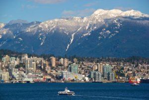 SeaBus crtossing Burrard Inlet, Vancouver BC